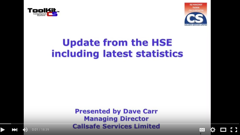 Dave Carr – HSE Updates