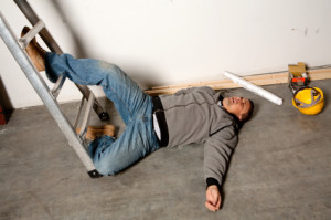 fall off ladder